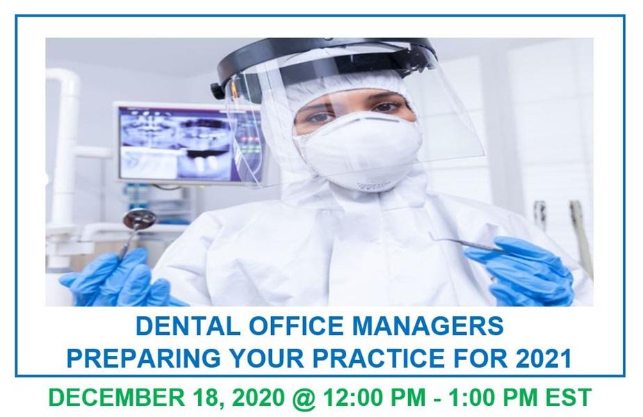 Dental Webinar Today - 12:00 PM to 1:00 PM EST