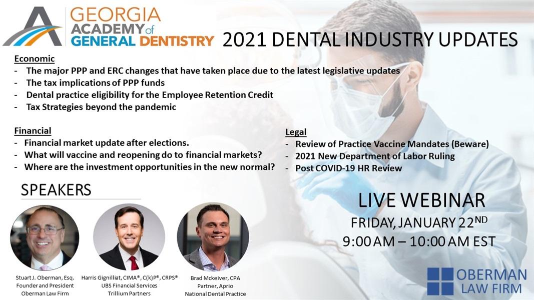 Dental Webinar - Friday, January 22, 2021