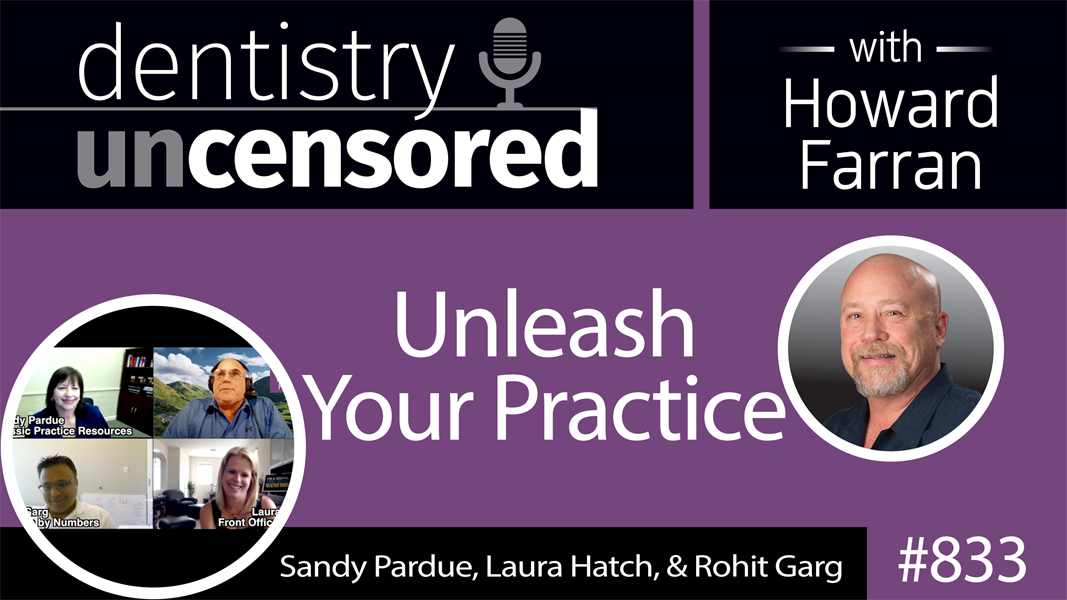 833 Unleash Your Practice with Sandy Pardue, Laura Hatch, and Rohit Garg : Dentistry Uncensored with Howard Farran