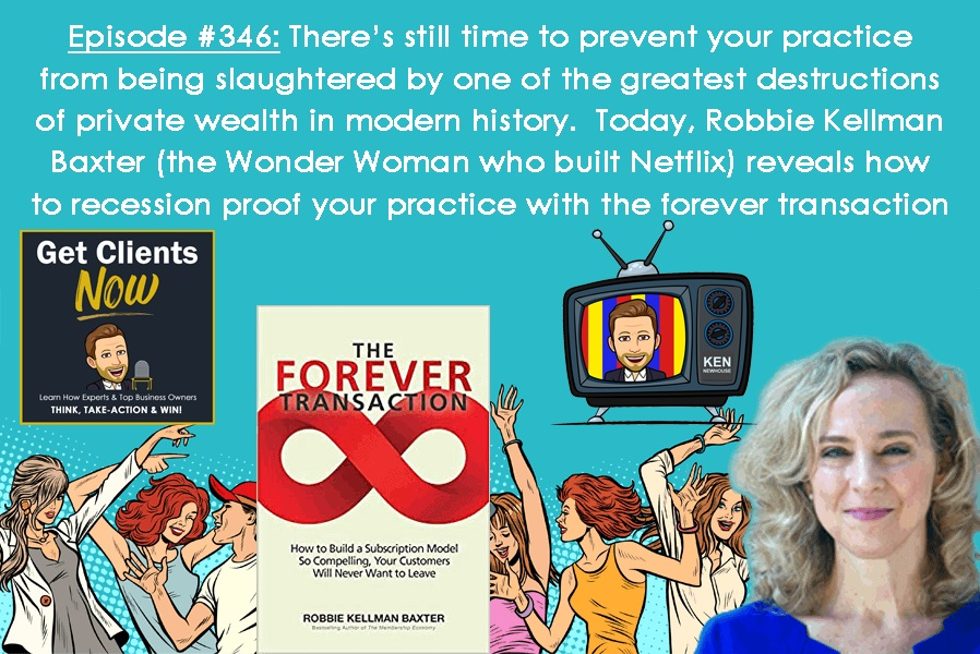 Episode #346: There's still time to prevent your practice from being slaughtered by one of the greatest destructions of private wealth in modern history.  Recession-Proof Your Practice!