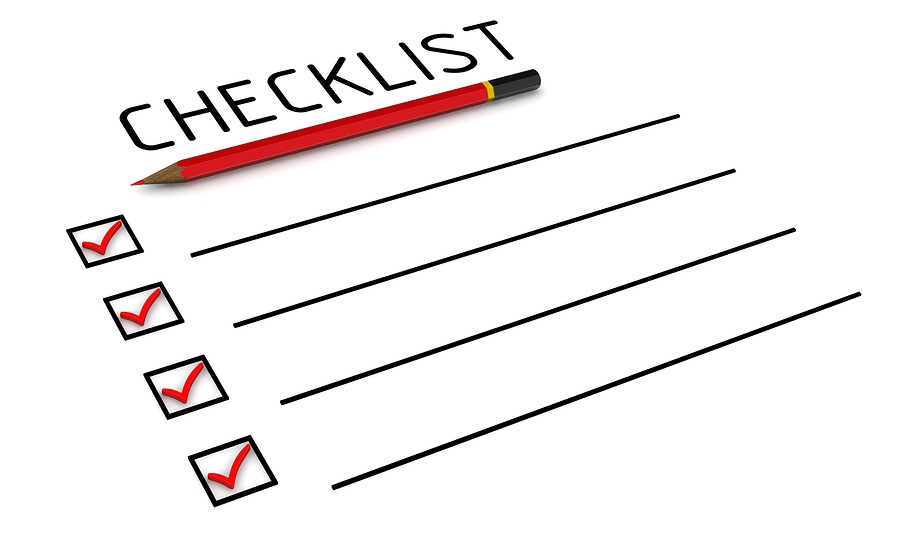 Dental hygienist downtime checklist