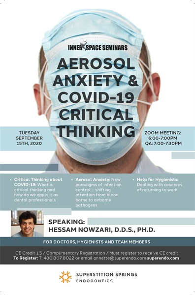Aerosol Anxiety and COVID-19 Critical Thinking with Dr. Hessam Nowzari