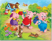 Three Little Pigs Hunt for Dental Plans