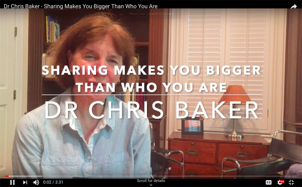 Sharing makes you bigger than who you are -- What that has to do with being a dentist