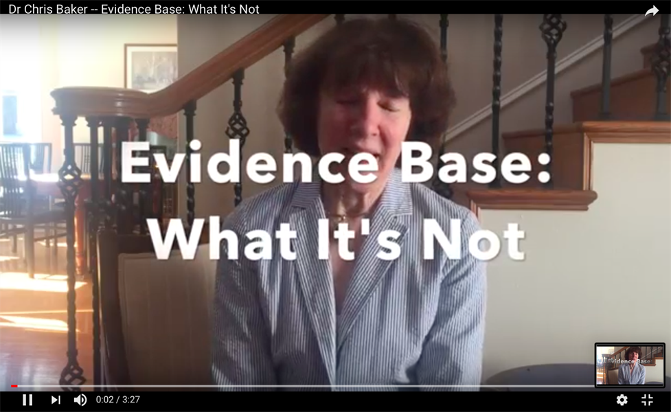 Evidence Base: What It's Not