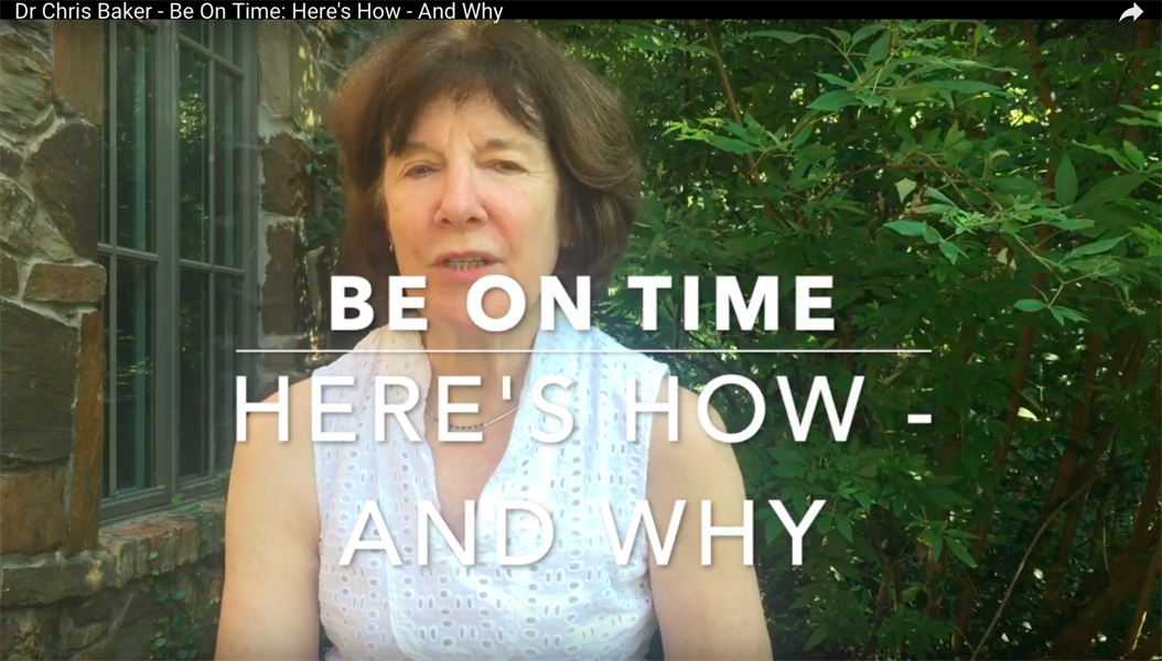 Be On Time: Here's How and Why