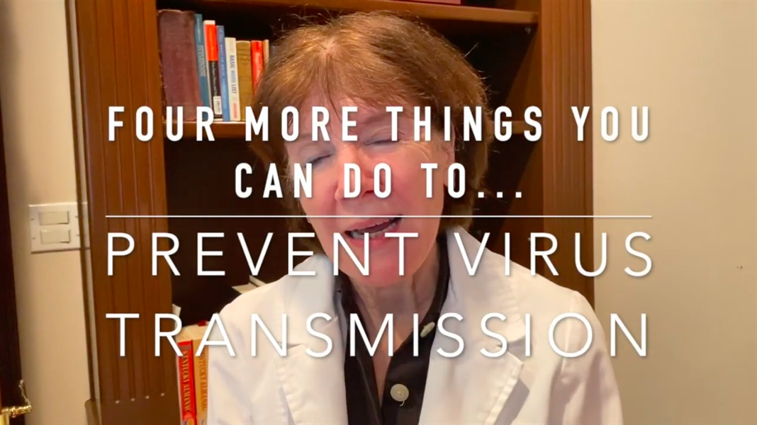 Four MORE Ways to Prevent Virus Transmission
