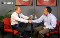 Dr. Hornbrook and Garrett Sato bite into Danville Dental Materials.
