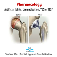 Q: Patients with artificial joints require premedication before dental treatments for:
