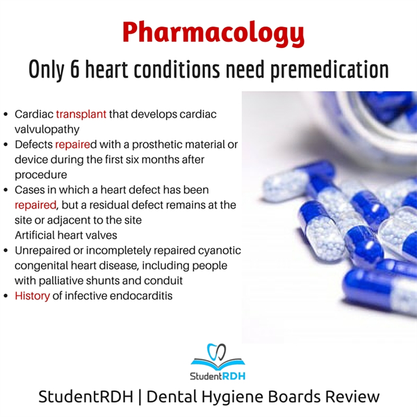 Q: Which heart condition requires premedications?