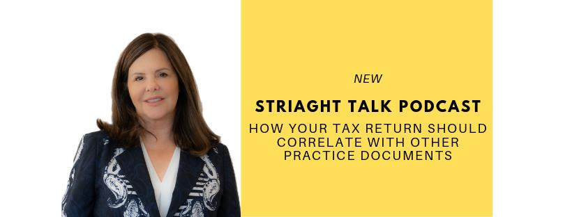 How Your Tax Return Should Correlate with Other Practice Documents