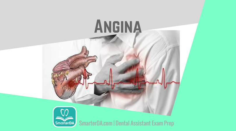 Q: Chest pain caused by the narrowing of the heart's blood vessels is called: